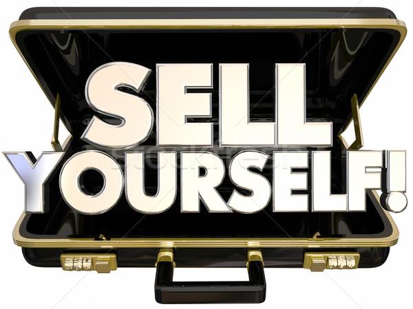 販売 あなた自身 ブリーフケース プロモーション 成功 3D ストックフォト © iqoncept