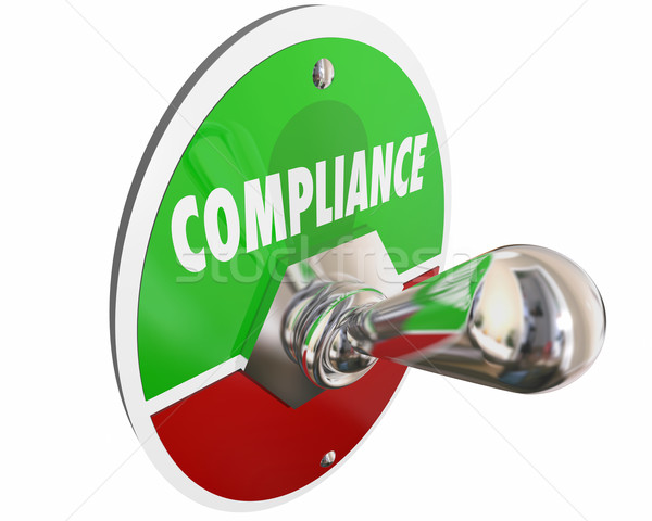 Compliance Follow Rules Laws Regulations Switch 3d Illustration Stock photo © iqoncept
