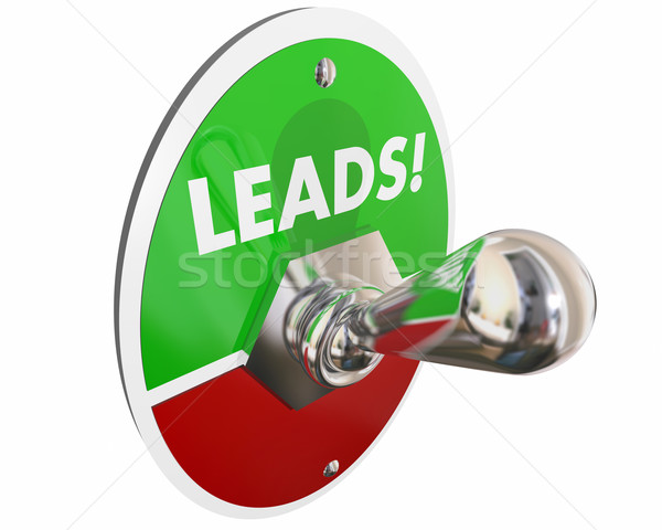 Leads Sales Prospects Customers Switch 3d Illustration Stock photo © iqoncept