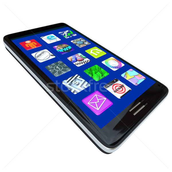 App Icons on Smart Phone Stock photo © iqoncept