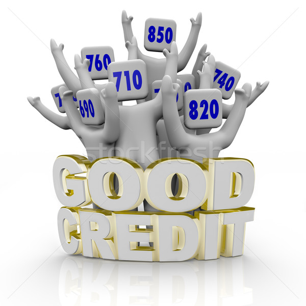 Good Credit Scores - People Cheering Stock photo © iqoncept