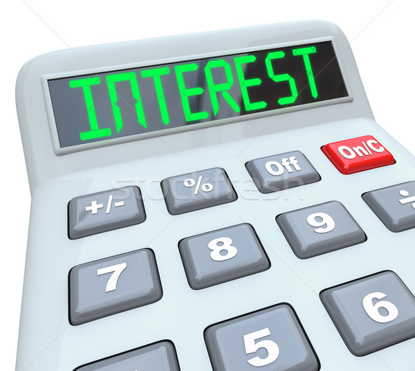 Interest Word Calculator Figure Growth Rate Loan Cost Stock photo © iqoncept