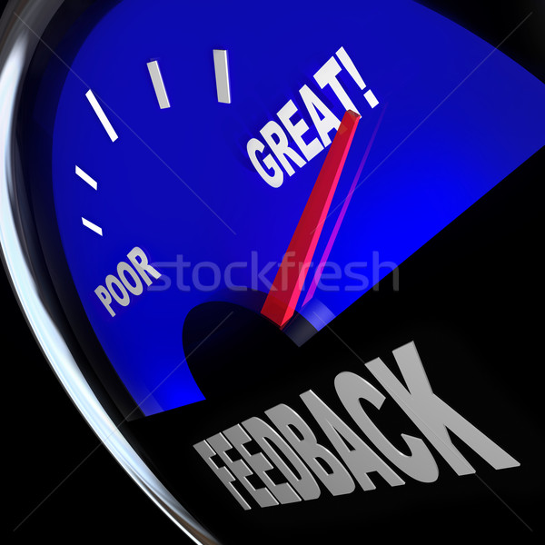Feedback Fuel Gauge Customer Opinions Reviews Comments Stock photo © iqoncept