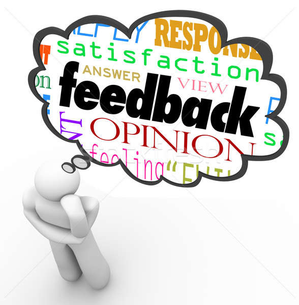 Feedback Thought Cloud Thinker Review Opinion Comment Stock photo © iqoncept