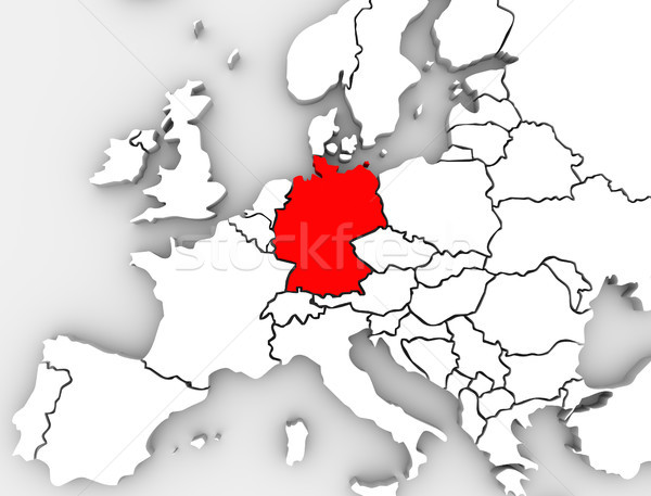 Germany Abstract Map Europe Region German Country European Stock photo © iqoncept