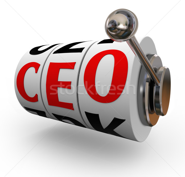 CEO Chief Executive Officer Search Recruitment Slot Machine Stock photo © iqoncept