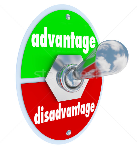 Competitive Advantage Vs Disadvantage Toggle Switch Choice Stock photo © iqoncept