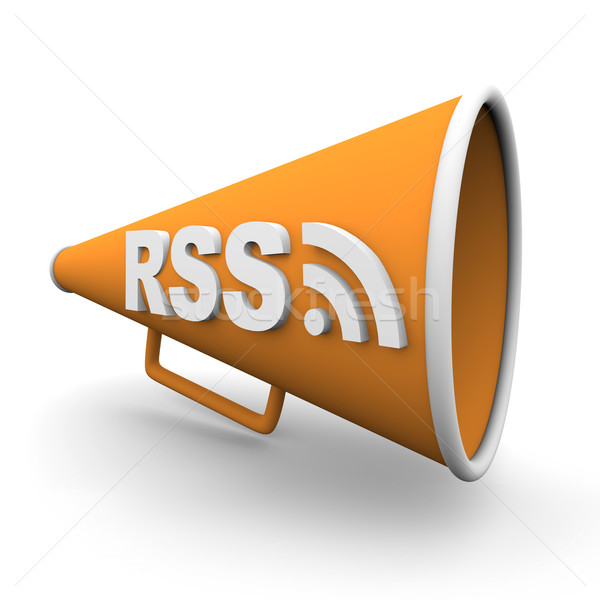 RSS Logo on Bullhorn Stock photo © iqoncept