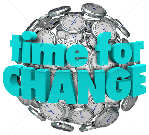 Time for Change Clocks Ball Sphere Innovative Improvement Stock photo © iqoncept