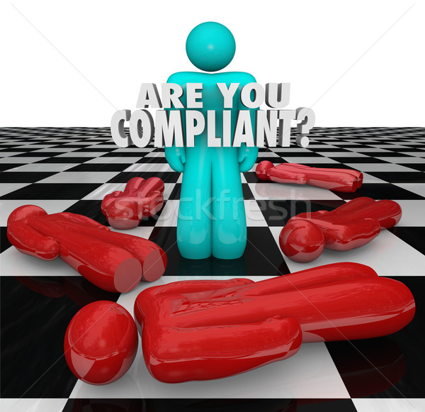 Are You Compliant Following Rules Regulations Legal Process Stock photo © iqoncept