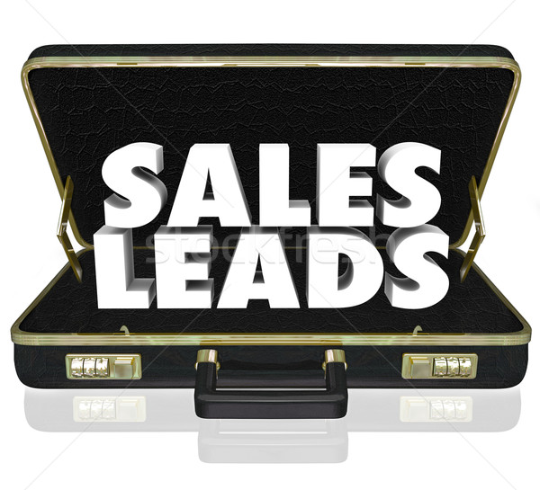 Sales Leads Briefcase Words New Customers Prospects Opportunity Stock photo © iqoncept