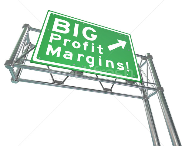 Big Profit Margins Freeway Road Sign Increase Net Earned Income Stock photo © iqoncept