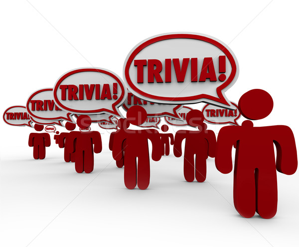 Trivia Word People Talking Speech Bubbles Quiz Knowledge Stock photo © iqoncept