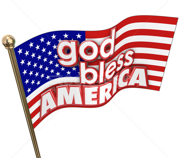 God Bless America USA Flag United States Religion Motto Stock photo © iqoncept