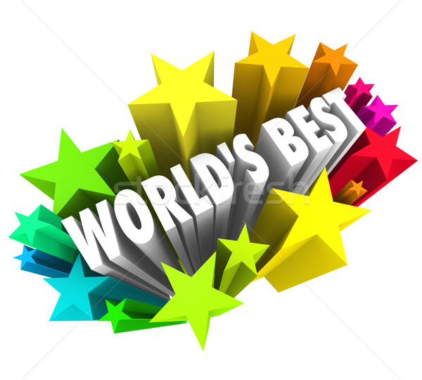 World's Best Stars Colorful Fireworks Top Greatest Choice Stock photo © iqoncept