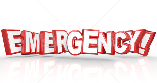 Emergency Word 3d Letters Big Crisis Disaster Stock photo © iqoncept