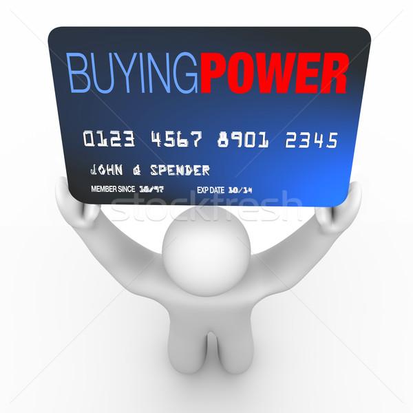 Compra poder pessoa cartão de crédito palavras Foto stock © iqoncept