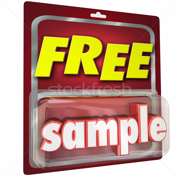Free Sample Package Complimentary Trial Product Size Example 3d  Stock photo © iqoncept