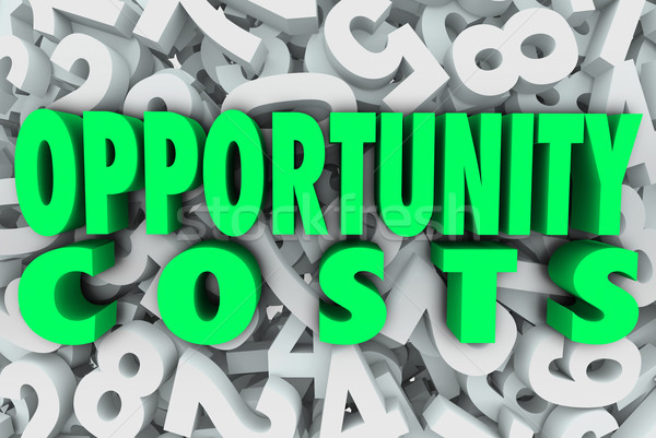 Opportunity Costs Resource Allocation Priority Tasks Projects Stock photo © iqoncept