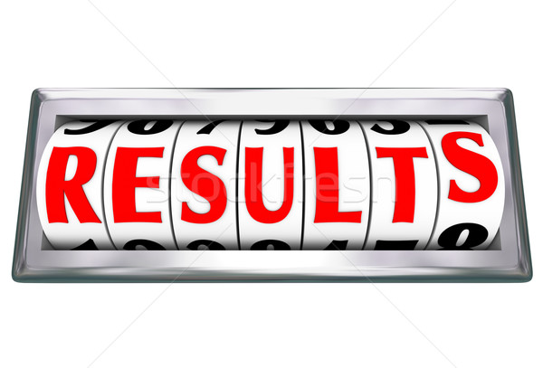 Results Word Outcome Measuring Productivity Efficiency Stock photo © iqoncept