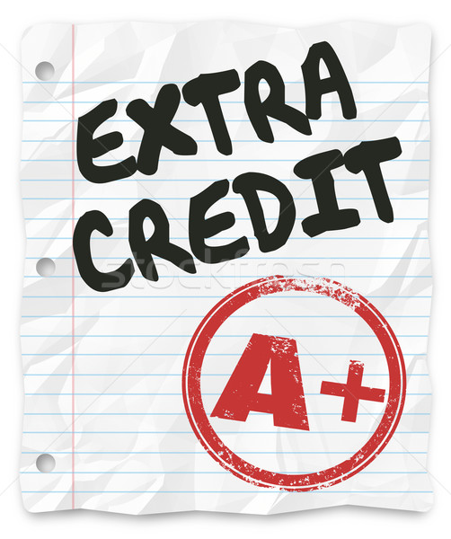 Extra Credit Added Points Results Graded School Paper Homework Stock photo © iqoncept