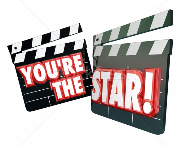 You're the Star Movie Clappers Actor Actress Hollywood Productio Stock photo © iqoncept