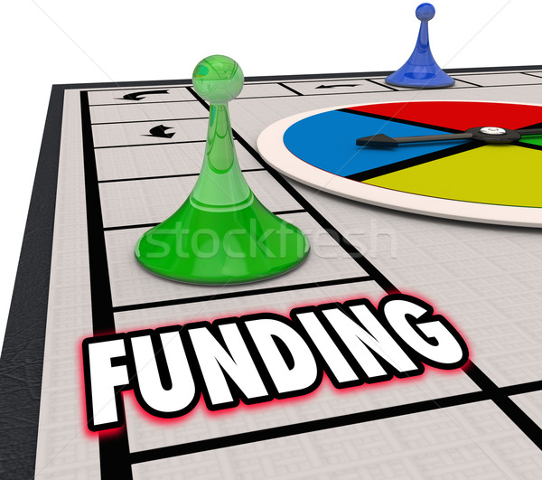 Funding Financial Backing Investment Money Resources Board Game  Stock photo © iqoncept