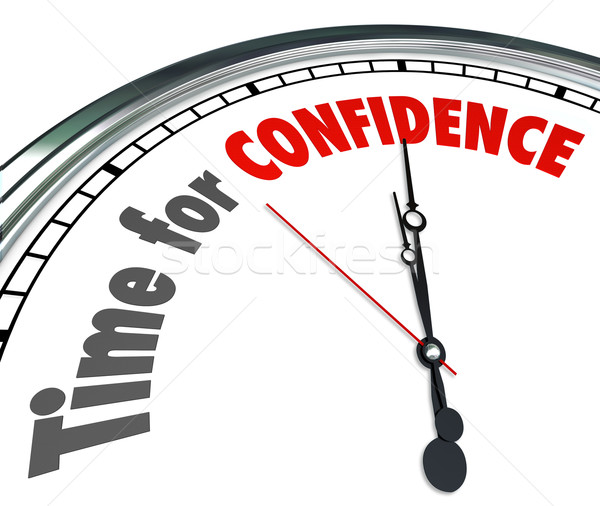 Time for Confidence Clock Words Good Positive Can Do Attitude Stock photo © iqoncept
