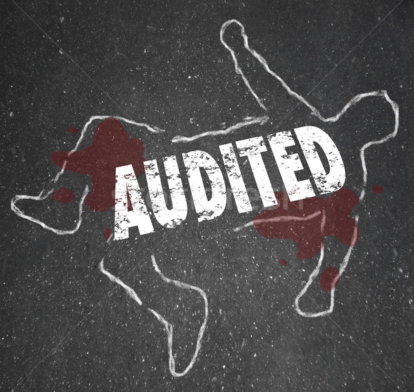 Audited Chalk Outline Dead Body Accounting Review Bad Bookkeepin Stock photo © iqoncept