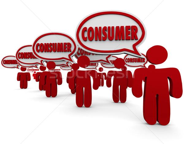 Consumidor pessoas clientes clientes palavra Foto stock © iqoncept