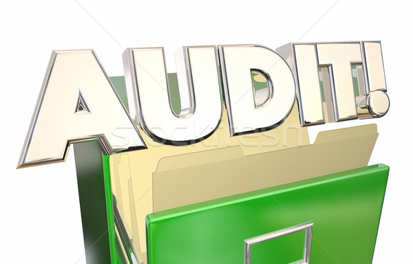 Audit Files Cabinet Tax Records Accounting 3d Word Stock photo © iqoncept