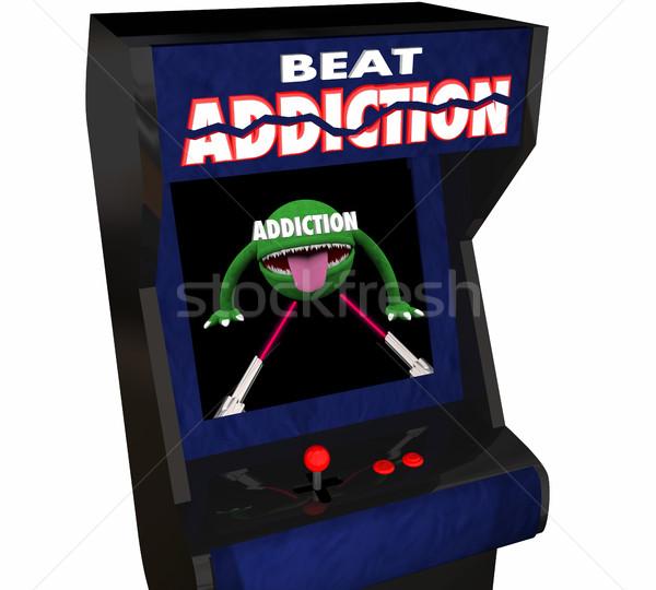 戦う 薬物 アルコール 虐待 ビデオゲーム ストックフォト © iqoncept