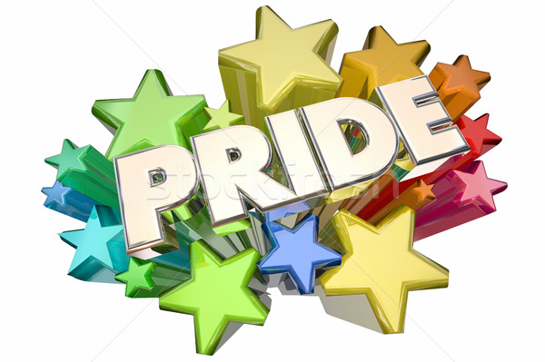 Pride Stars Showing Proud Feelings Emotion 3d Illustration Stock photo © iqoncept