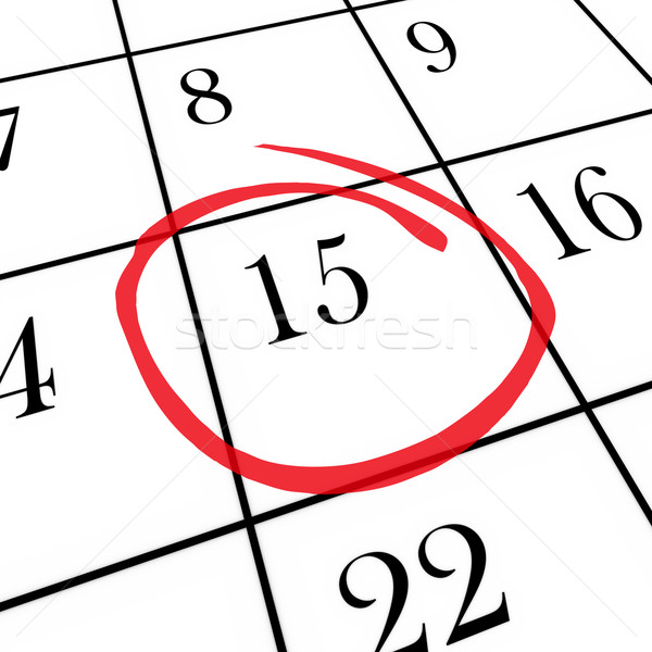 Monthly Calendar - 15th Day Circled Stock photo © iqoncept