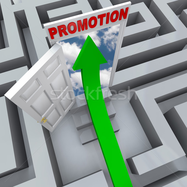 Promotion in Maze - Open Door to Career Success  Stock photo © iqoncept
