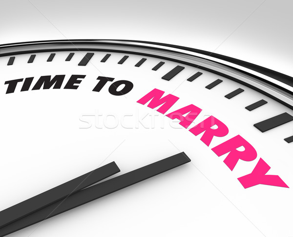 Time to Marry - Clock for Wedding Ceremony Stock photo © iqoncept