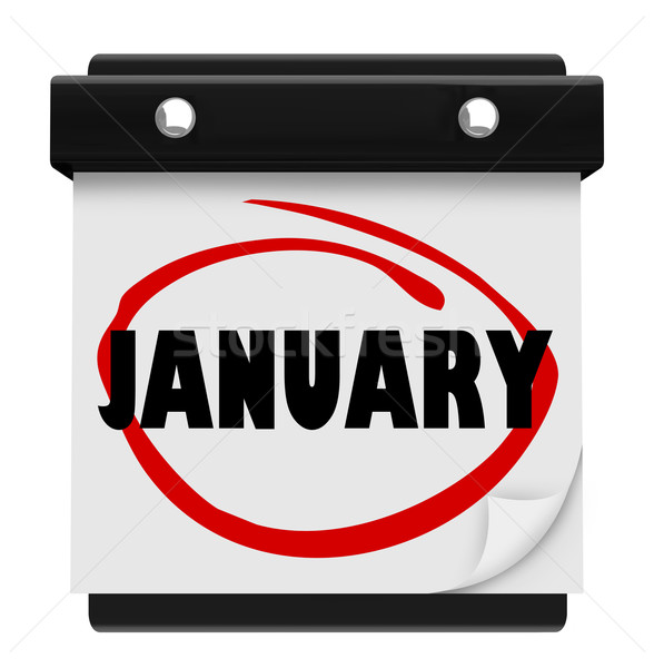 January Month Word Wall Calendar Remember Schedule Stock photo © iqoncept