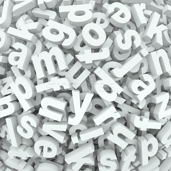 Letter Jumble Background Alphabet Words Spilled Mess Stock photo © iqoncept