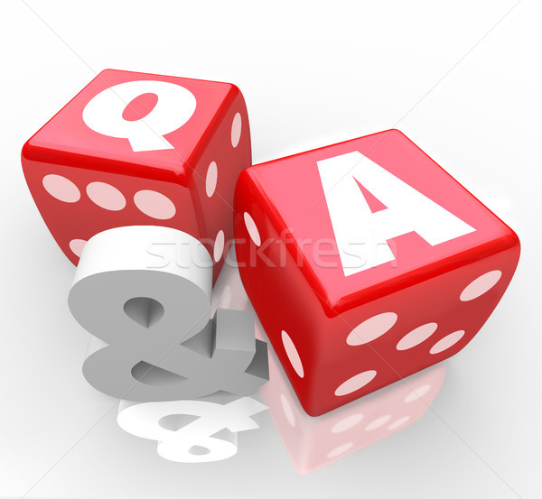 Q and A Questions Answers Letters on Red Dice Stock photo © iqoncept