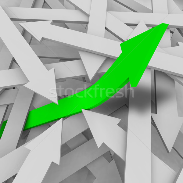 One Arrow Rises from the Rest Stock photo © iqoncept