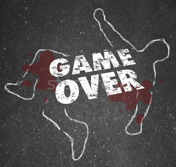 Spel lichaam krijt schets dode persoon Stockfoto © iqoncept