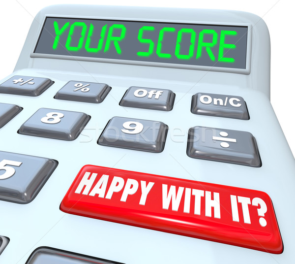 Your Score Calculator Adding Total Result Numbers Stock photo © iqoncept