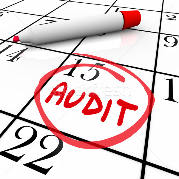 Audit Financial Budget Book Keeping Tax Day Date Calendar Stock photo © iqoncept