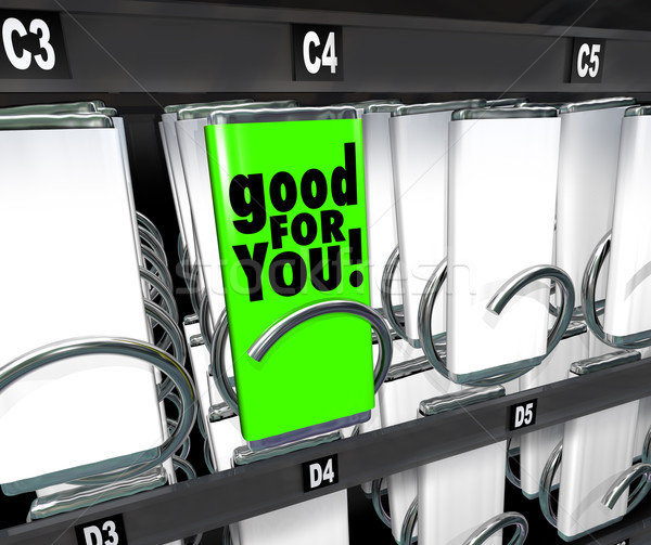 Good for You Snack Choice Food Vending Machine Healthy Option Stock photo © iqoncept