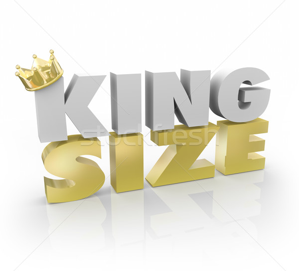 King Size 3d Words Gold Crown Large Quantity Amount Stock photo © iqoncept