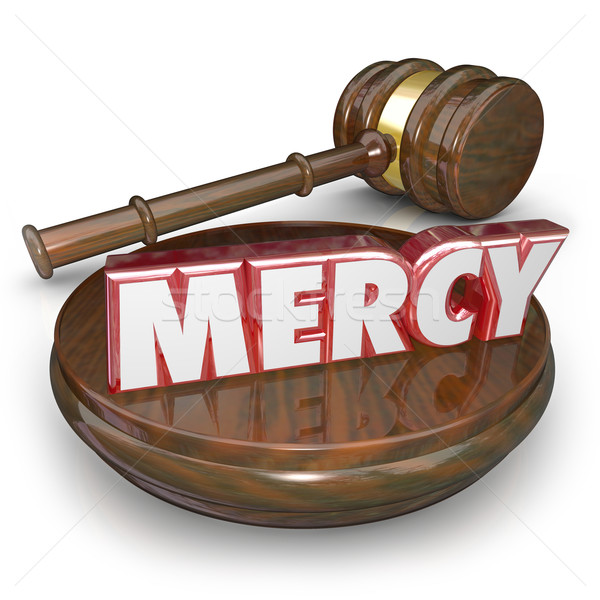 Mercy 3d Word Judge Gavel Lenient Sentencing Court Verdict Stock photo © iqoncept