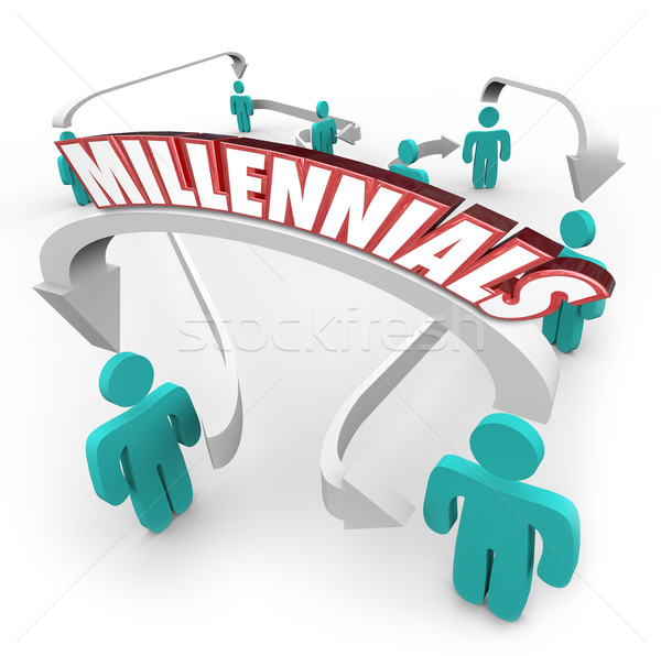 Millennials People Connected Arrows Young Youth Generation Stock photo © iqoncept