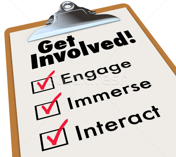 Get Involved Clipboard Checklist Join Group Activity Participati Stock photo © iqoncept
