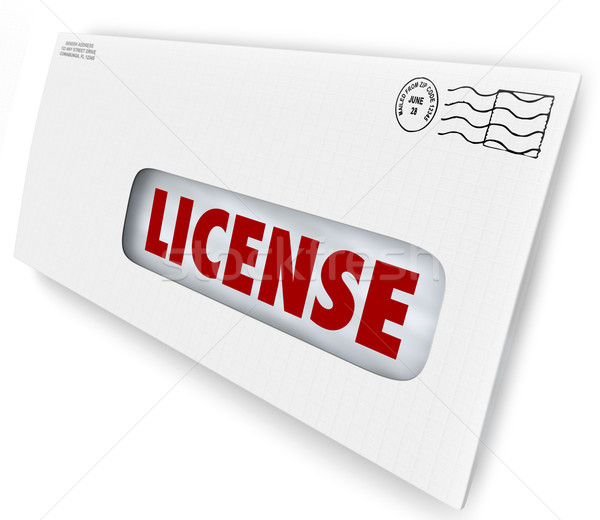 License Sent Delivered Mail Envelope Official Authorization Arri Stock photo © iqoncept