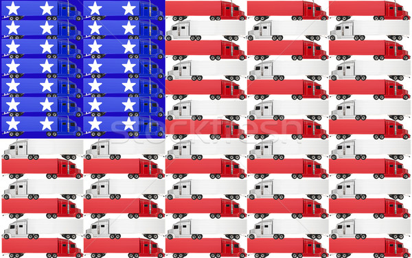 USA United States America Truck Flag Red White Blue Stock photo © iqoncept